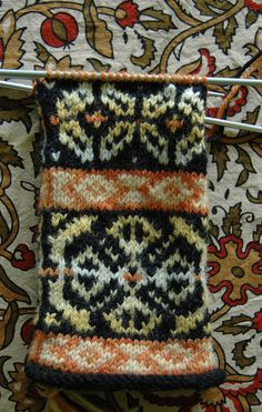 Lisa's Naturally Dyed Fair Isle Swatch