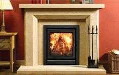 Providing greater heat output and a larger window to view the swirling flames, the Stovax Riva™ 55 wood burning and multi-fuel inset fire can be installed Wood Stain Colors, Room Paint Colors, Paint Colors For Living Room, Fireplace Surrounds, Fireplace Design, Fireplace Ideas, Farmhouse Table Legs, Inset Stoves, Round Wood Table