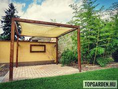 #pergola #gardendecor #napvitorla #bamboo #topgarden #kertépítés 📝 Pergola, Gazebo, Coron, Bamboo, Arch, Outdoor Structures, Garden, Instagram, Kiosk
