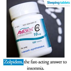 Zolpidem, the fast-acting answer to insomnia.