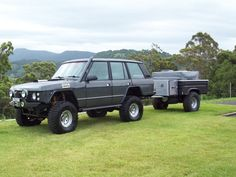 Nice Range Rover and matching Trailer