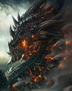 Fantasy illustrations by Wei Wang, Fantasy creatures, dragon Dark Fantasy Art, Fantasy Kunst, Fantasy Artwork, Magical Creatures, Fantasy Creatures, Digital Art Illustration, Dragon Illustration, Dragon Medieval, Medieval Fantasy