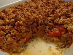 Tomate mozzarella façon crumble (pain suédois) - Recette de cuisine Marmiton : une recette
