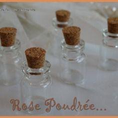 10 fioles minis bouteilles 22x15mm en verre avec bouchon en liège