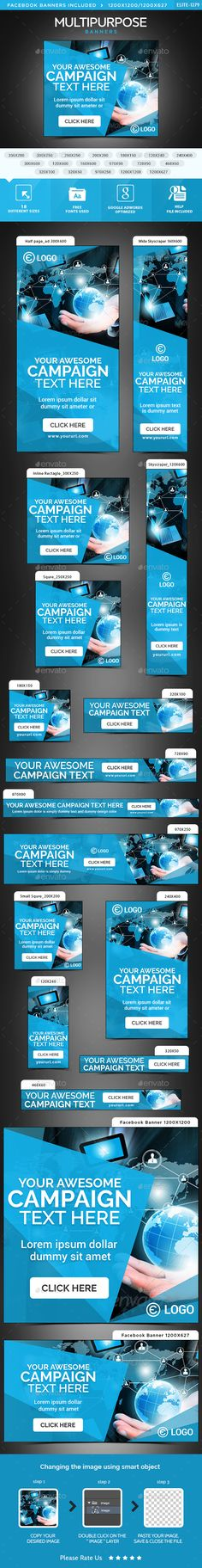 Multipurpose Web Banners Template PSD. Download here: http://graphicriver.net/item/multipurpose-banners/15277137?ref=ksioks