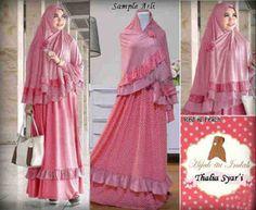 Jual Baju Gamis Thalia Pink - http://tokogamismodern.com/jual-baju-gamis-thalia-pink/