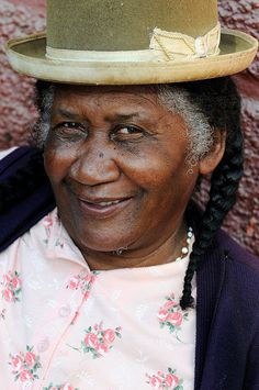 Elvira Pinedo, Afro-Bolivian woman, Coroico, Bolivia.  Coroico is a town in Nor Yungas Province, in the La Paz Department of western Bolivia.
