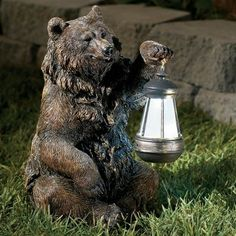 Forest Friends Bear Solar LED Lights