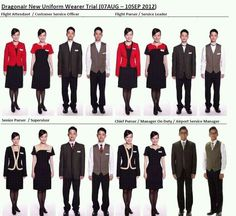 Dragonair new uniform. Dragonair, Cabin Crew