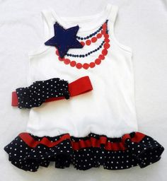 fourth of july necklace shirt refashion  from A Couple of Craft Addicts http://acoupleofcraftaddicts.blogspot.com/2011/07/fourth-of-july-necklace-shirt-refashion.html