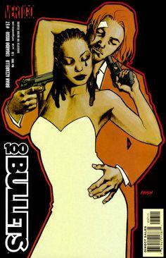 Vertigo comics:100 Bullets ( Brian Azzarello & Eduardo Risso) Cover by Dave Johnson