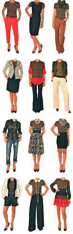 Leopard Blouse 12 Ways... [via www.thechicagolifeblog.com]