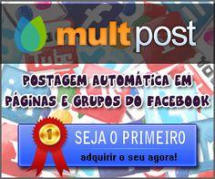 Postagem Automática em Páginas e Grupos do Facebook, para desenvolver os seus negócios. http://revenda.multpost.com.br/index.php?ref=lopespt