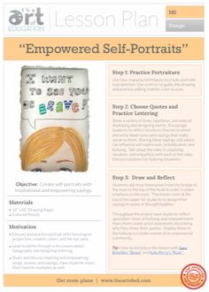 Empowered Self-Portraits: Free Lesson Plan Download