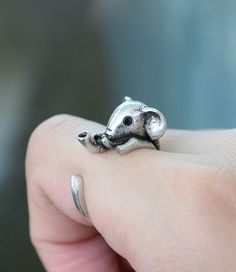 Hey, I found this really awesome Etsy listing at https://www.etsy.com/listing/189315059/elephant-ring-adjustable-ring-animal