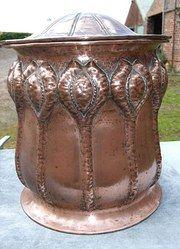 Copper Arts & Crafts Coal Bin
