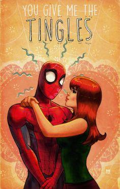spider-man and Mary Jane valentine's by on DeviantArt Marvel Comic Books, Marvel Art, Marvel Heroes, Marvel Characters, Comic Books Art, Marvel Comics, Comic Art, Stan Lee Spiderman, Spiderman Art