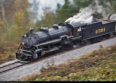 SOU 4501 Southern Railway Steam 2-8-2 at Fairview, Georgia by KD Rail Photography