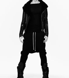 Rick Owens  #Rocker Chic #Black Outfit Style