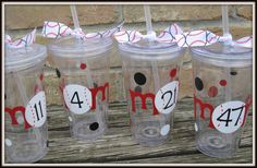 Personalized Acrylic Tumblers MOM Baseball MOM by timestotreasure #craftshout #0208