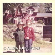 Vintage // Color Photo // Cute Kids in Hats by foundphotogallery