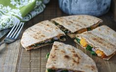 This recipe is a whole new take on quesadillas. Tender toasted butternut squash, black beans, and kale are combined to create a meal that's savory, slightly spicy, and delicious.