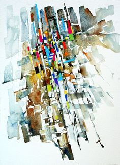 Rock Art by Jan Smit (water colour collage)