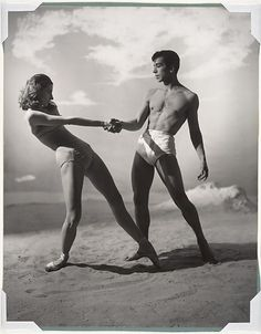 """Tanaquil Le Clercq and Nicholas Magallanes in """"Jones Beach,"""" 1950"""