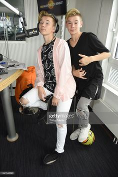 Marcus Martinus are seen during their visit to 936 JAM FM on September 1 2017 in Berlin Germany M Photos, Cute Photos, Love Twins, Dream Boyfriend, Love U Forever, Hot Guys, Hot Men, Celebs, Celebrities