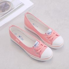 Comfortable Flat Shoes Upper Material: Canvas Flats Type: Basic Gender: Women Outsole Material: Rubber Occasion: Casual Shoe Width: Medium(B,M) Pattern Type: Solid Closure Type: Slip-On Decorations: P