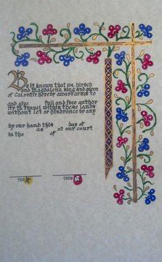Illuminated Pre-print - SCA - Kingdom Calontir