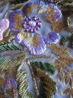 Gold and Purple Embroidery