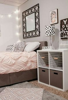 bedroom, room, and pink Bild