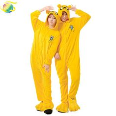 b7f46d2238a Adventure Time With Finn And Jake Dog Costume (not include slipper) for  Adult Cartoon Animal Cosplay Onesies Pajamas Jumpsuit