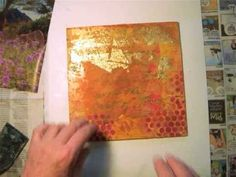 Gel Transfer using Magazine Pages on Masonite board with a collaged background - Video Tutorial