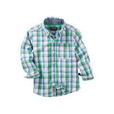 Toddler Boy OshKosh B'gosh® Plaid Shirt, Size: 4T, Ovrfl Oth