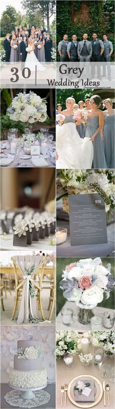 fall wedding ideas- grey wedding color ideas / http://www.deerpearlflowers.com/grey-fall-wedding-ideas/