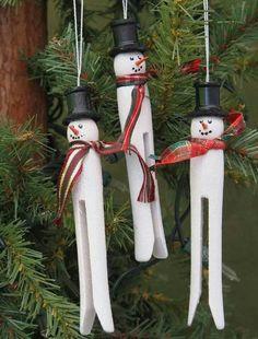 Clothespin ornaments