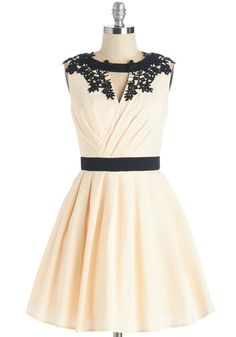 Beyond the Call of Beauty Dress. Twirl with awe-inspired delight in this exquisite ivory cocktail dress by Chi Chi London. #cream #prom #wedding #bride #modcloth