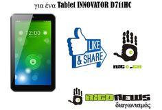 Λήγει την  26 Οκτωβρίου 2014- Το rigo.gr διοργανώνει διαγωνισμό και χαρίζει  ένα τάμπλετ Innovator D711HC Καλή επιτυχία σε όλους! 7b024204d7c