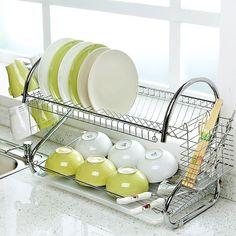 home /& living küche und esszimmer lagerung das regal geschirrständer drainer.