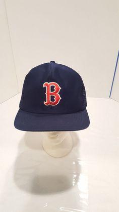 VTG 90 s MLB Boston Red Sox Snapback Trucker Hat M L BIG LOGO PlayOffs OG   TeamMLB  BaseballCap  BostonRedSox dfdb4a73d3e2