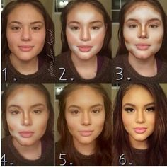 1 TO 6 AND YOU ARE SOMEONE ELSE - #makeuptransformation #contour #highlight #sculpt #makeupmagic -  Love beauty? Go to bellashoot.com for beauty inspiration!