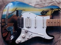 Fender Stratocaster with Salvador Dali Customwork by www.beyondcustomguitars.com
