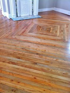 Re-sand and finish of 100 year old maple floors.