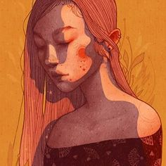 I wanted to draw a portrait that celebrates what she might sees as imperfection on… Digital Art Girl, Pretty Art, Art Plastique, Aesthetic Art, Digital Illustration, Art Inspo, Art Reference, Amazing Art, Collages