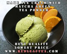 "Make great tasting Green Tea Ice Cream. We offer largest selection of green tea powders at the lowest price.  Please use coupon ""PINTEREST20"" for 20% discount on our matcha tea products. www.RedLeafTea.com  #matcha #greenteapowder #icecream Green Tea Ice Cream, Matcha Green Tea Powder, Icecream, Coupon, Ethnic Recipes, Desserts, How To Make, Food, Products"
