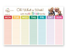 weekly schedule pad-  Perfect bday present for me ;)