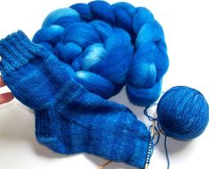 Sale 20 Percent Off  Hand Dyed Cheviot Wool by SeeJayneKnitYarns (Craft Supplies & Tools, Fiber & Textile Art Supplies, Yarn & Roving, Roving, spinning supplies, combed top, knitting, cheviot wool, hand painted, royal blue, doctor who, dr who, tardis time machine, sapphire blue, handspun yarn, hand dyed roving, spinning fiber)