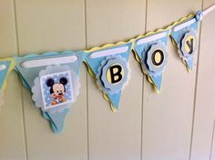Baby Mickey Baby Shower Decoration, Mickey Mouse Baby Shower. Disney Babies.  Disney Baby Shower. Custom Banner, Name Banner - Made to Order on Etsy, $56.00